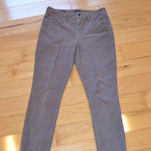 Nydj  gray CORDUROY alina legging pants sz 6
